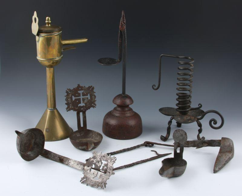 Collection of Antique Lighting, as follows: