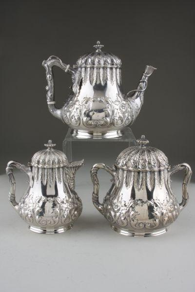 Coin Silver Tea Service of Southern Interest,
