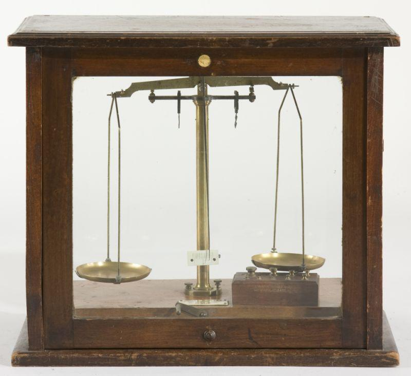 Antique Brass Pharmaceutical Balance Scales,