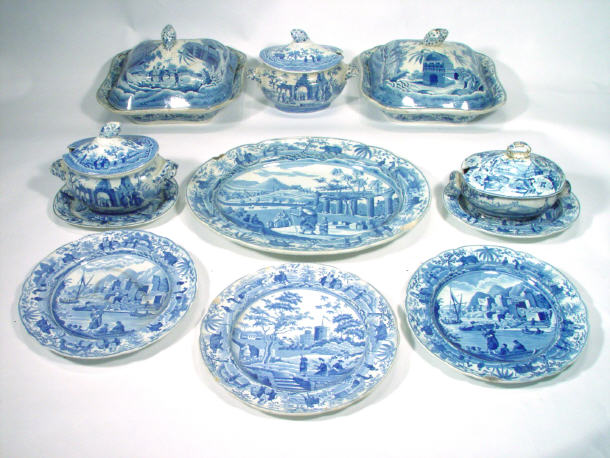 Collection of 19th Century Spode pottery
