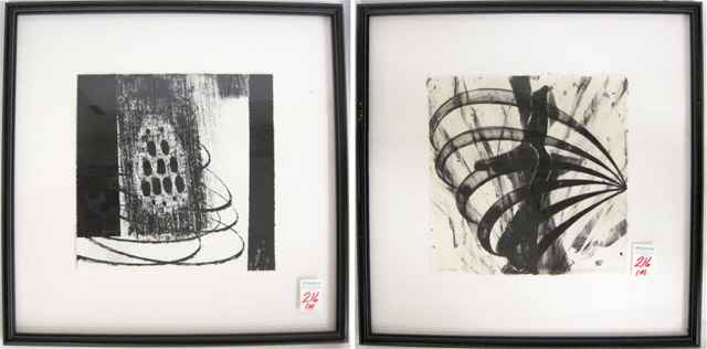 "TWO LITHOGRAPHS, the first titled ""Scream"""