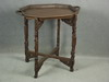 TRAY ON STAND - CIRCA 1900 HEAVILY CARVED