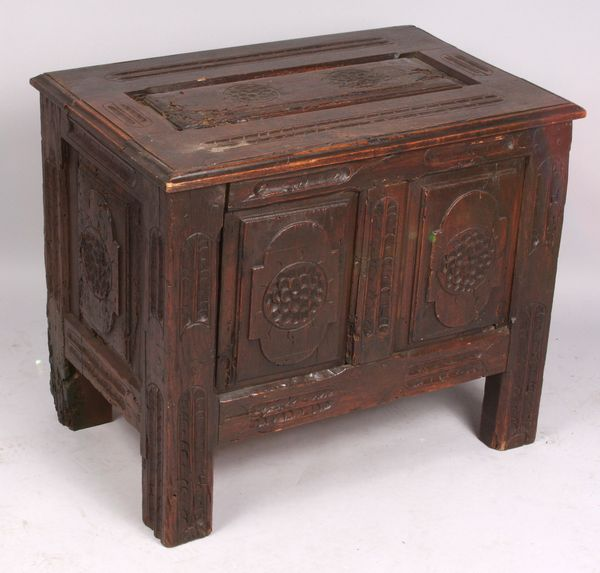 17th-18th Century English oak carved childs