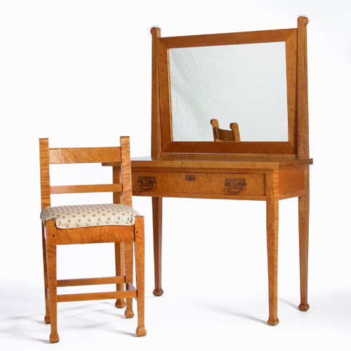 ROYCROFT Bird's Eye Maple vanity with pivoting