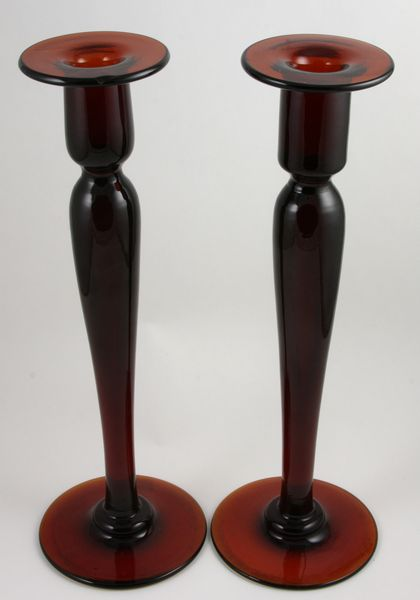 Pair of 20th Century monumental blown-glass