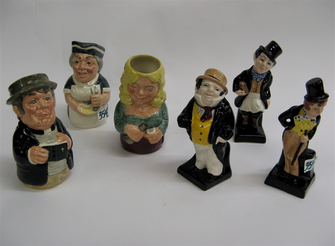 ROYAL DOULTON CHARACTER JUGS & DICKEN'S FIGURES,