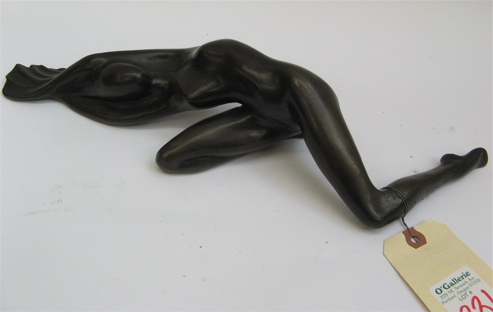 CONTEMPORARY ARTIST SIGNED BRONZE SCULPTURE,