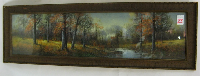 AN AMERICAN PASTEL PAINTING ON PAPER An autumn