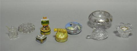 COLLECTION OF BIBELOTS Including two Limoges