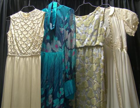 FOURTEEN VINTAGE EVENING GOWNS Including