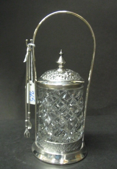 JAMES W. TUFTS SILVERPLATED PICKLE CASTOR,