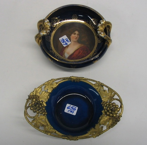 TWO COLLECTIBLE PORCELAIN BOWLS: the first