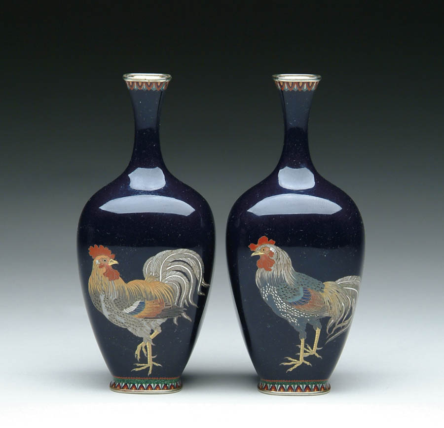 Price Guide For Pair Of Japanese Cloisonne Enamel Vases