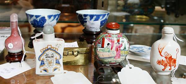 An assembled group of miniature Chinese objects