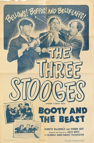 A Three Stooges huge group of folded one-sheet