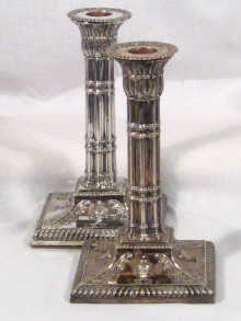 A pair of late nineteenth century silver