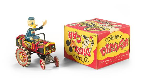 A Marx lithographed tin Disney Dipsy Car