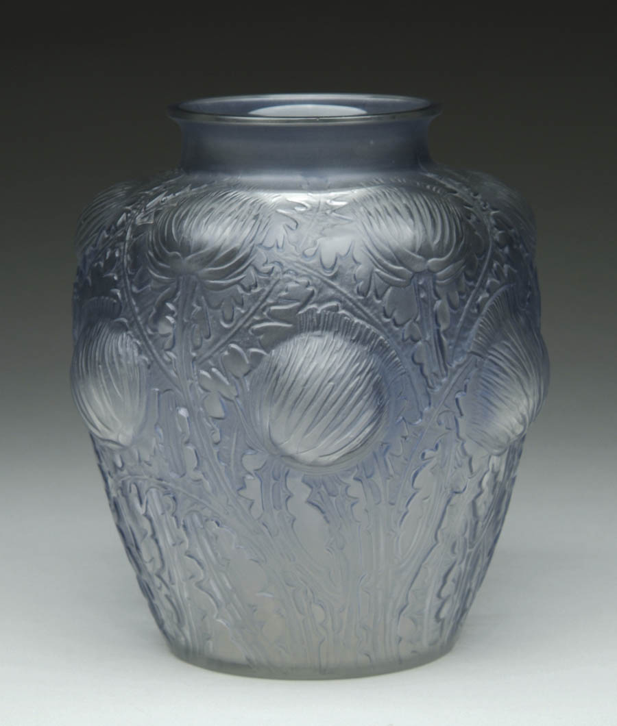 Price guide for LALIQUE DOMREMY VASE  Nice Lalique vase has