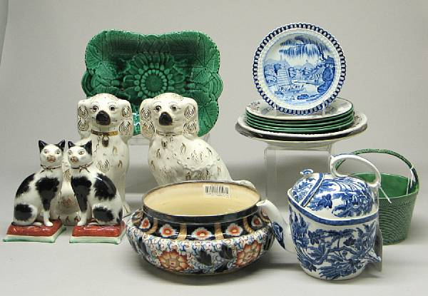 An assembled group of English earthenware