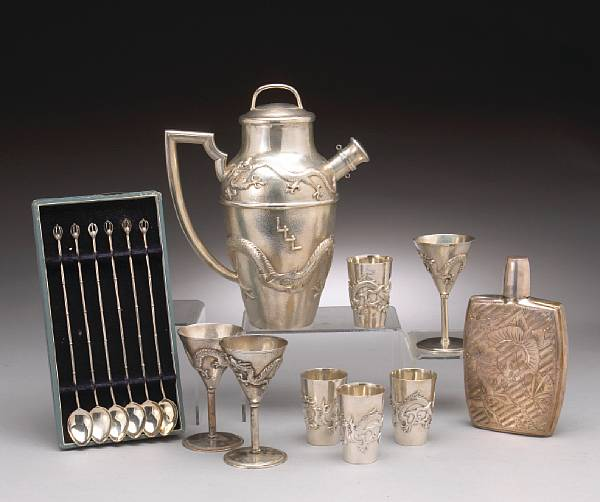 An Asian silver group