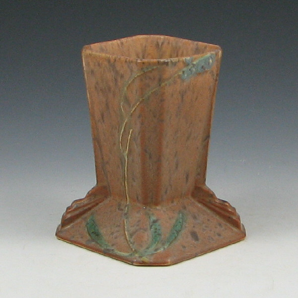 "Roseville Futura 421-5"" Brown Stump Vase