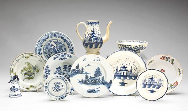 An assembled group of European earthenware