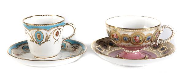 An English porcelain part tea service