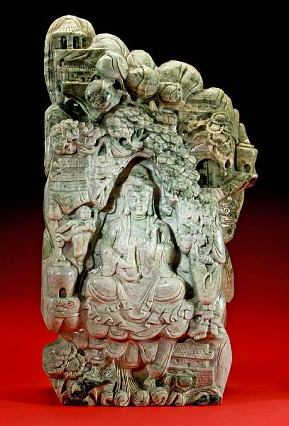 Serpentine Carving of a Boddhisatva