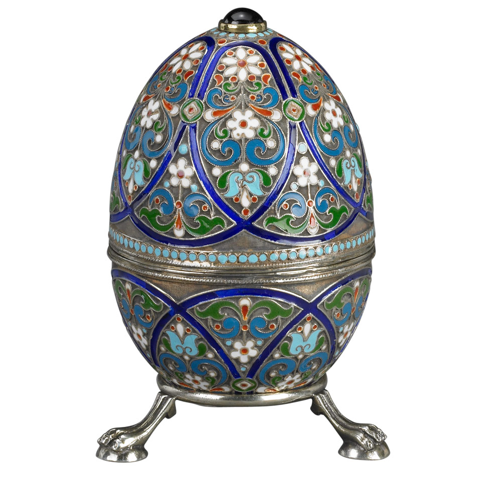 Price Guide For Russian Silver And Cloisonn 233 Enamel Egg With