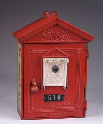 CAST IRON FIRE ALARM STATION. Architectural