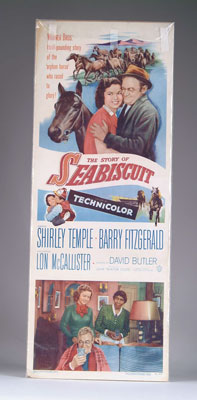 "SEABISCUIT MOVIE POSTER. 14"" w x 36"""
