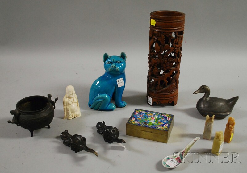 Twelve Assorted Asian Items, including three