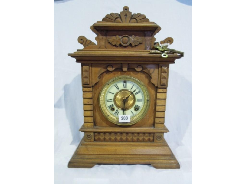 A late 19th century German mantle clock with