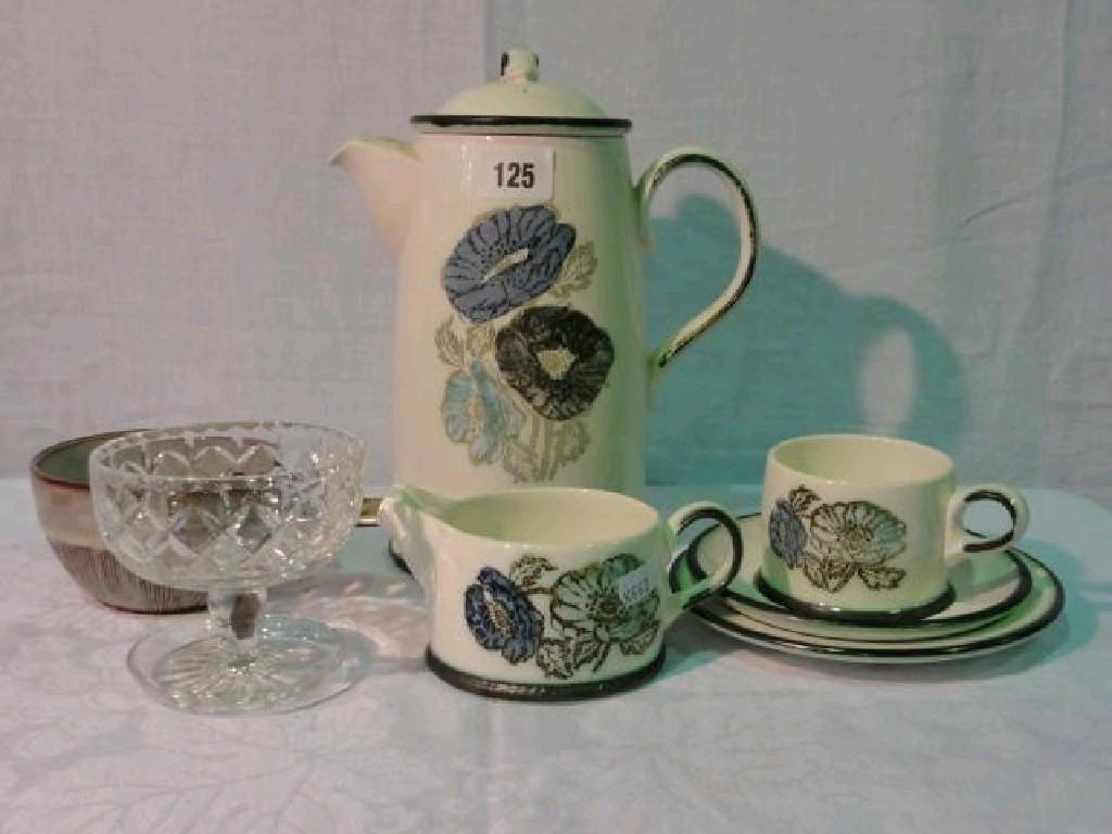 A collection of Wedgwood Iona pattern coffee