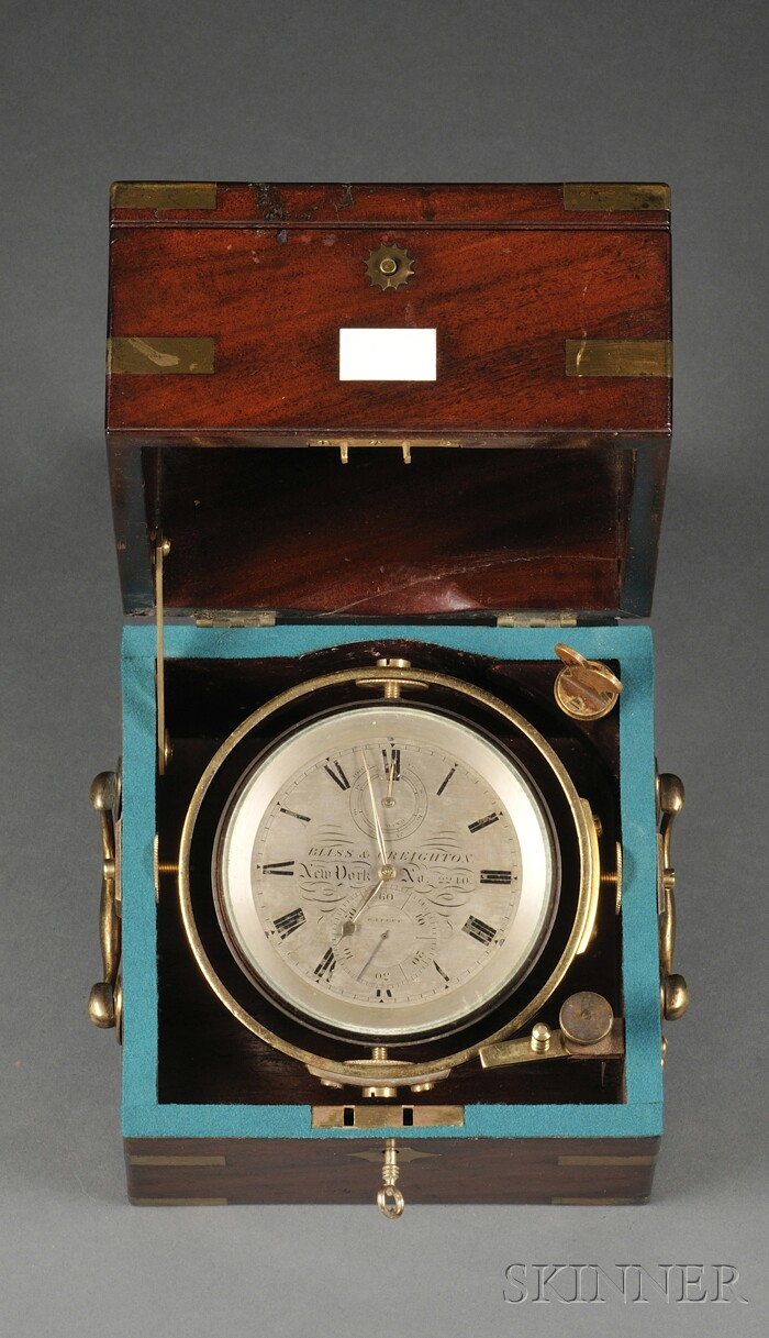 Two-Day Marine Chronometer by Bliss & Creighton,