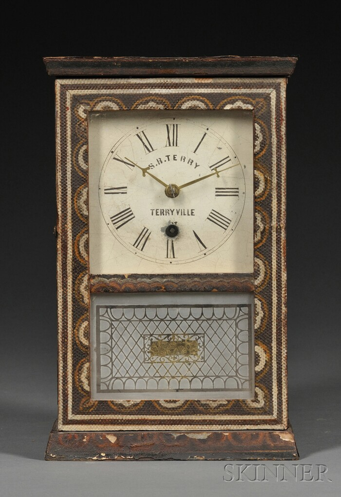 Silas B. Terry Pine Cottage Clock, Terryville,