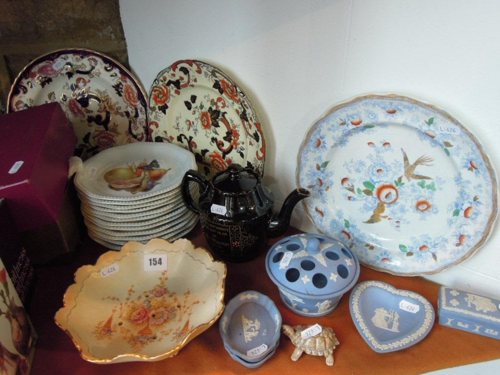 A collection of ceramics and glassware including
