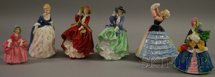 Five Royal Doulton Porcelain Figures and