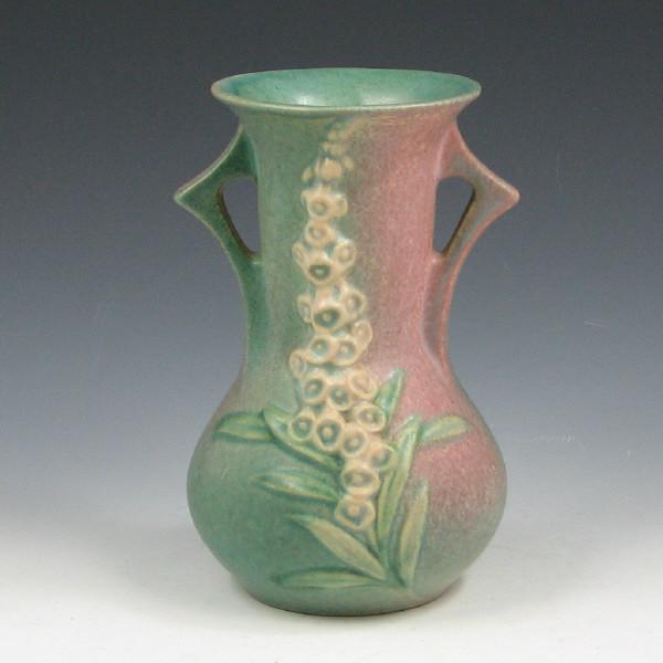 Price Guide For Roseville Foxglove 43 6 Vase Mint Roseville