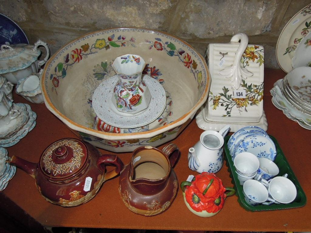 A collection of mainly 19th century ceramics