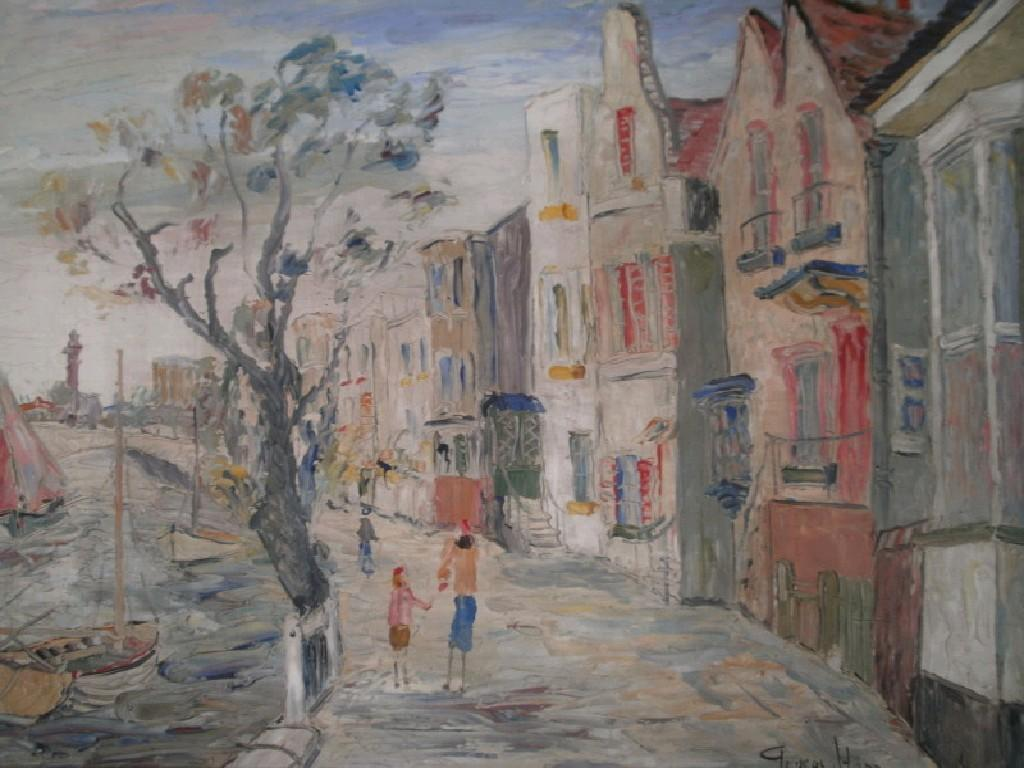 George Hann (1900-1979).  Strand-on-the-Green.