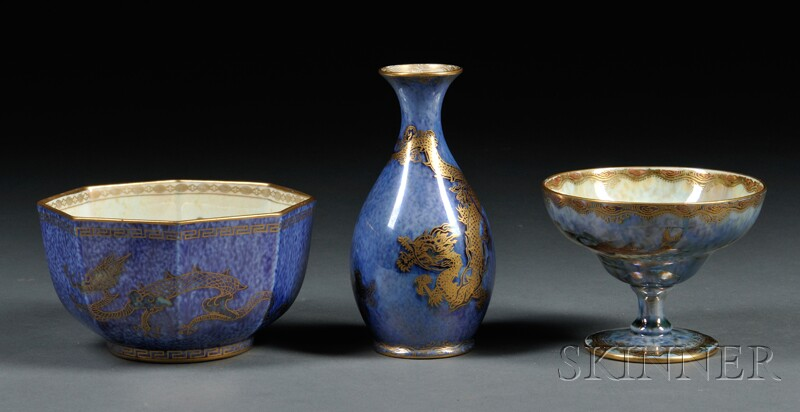 Three Wedgwood Lustre Items, England, c.