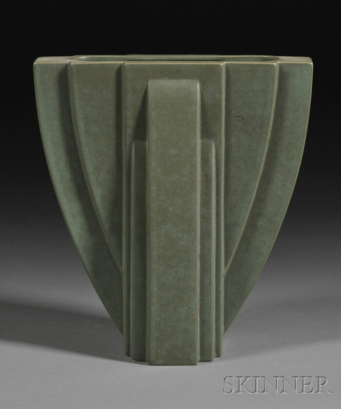 Price Guide For Claude Dumas Art Deco Pottery Vase Molded