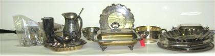 Group of silverplate presentation itemsComprising