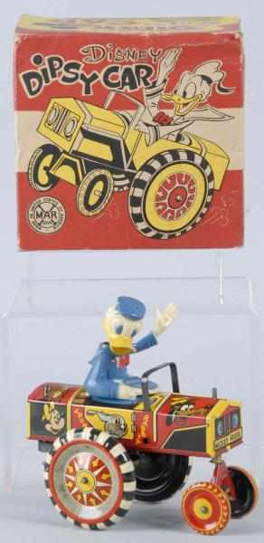 Tin Marx Disney Donald Duck Dipsy Car Wind-Up