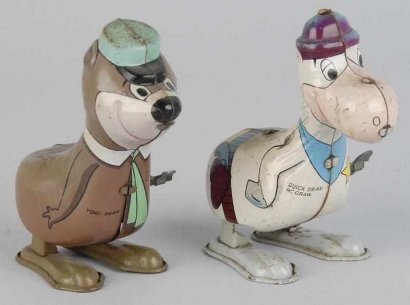 Lot of 2: Tin Linemar Character Hopping Toys.