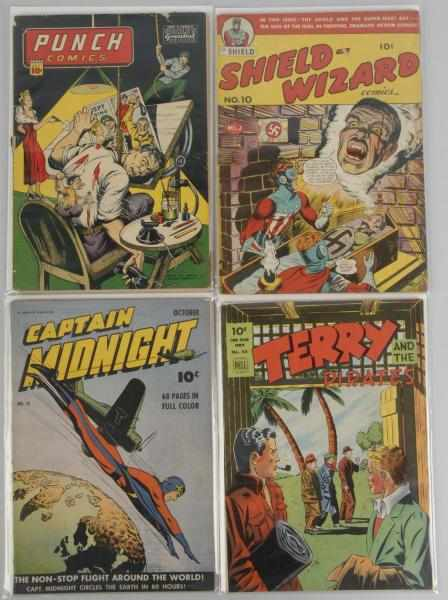 Lot of 4: Assorted 1940s Golden Age Comics.