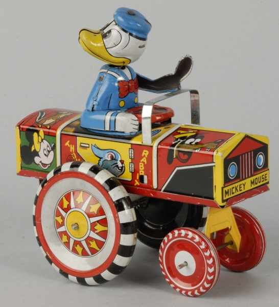 Tin Linemar Disney Donald Duck Dipsy Car