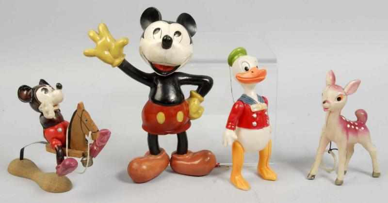 Lot of 4: Celluloid Disney Character Figures.