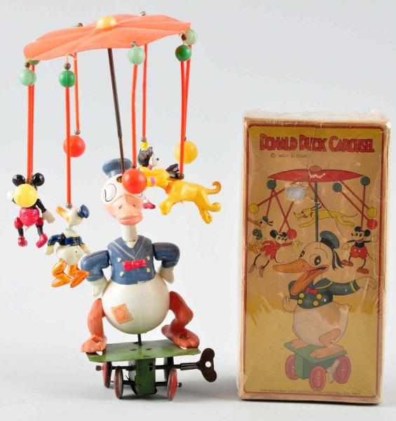 Celluloid Disney Donald Duck Carousel Wind-Up